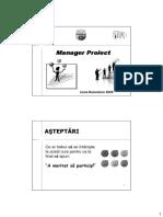 Prezentare Introducere Curs Manager Proiect