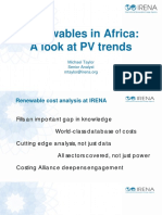Recent and Upcoming Solar PV Project Costs in Africa