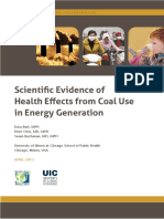 Scientific  Evidence of Health Effects from Coal Use in Energy Generation