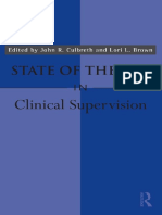 ++++Culbreth y Brown (2010) State of the Art in clinical supervision