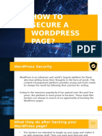 How to Secure a Wordpress Page