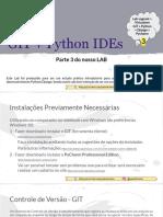 LAB Python-Django - Parte 3 - GIT + Python IDEs