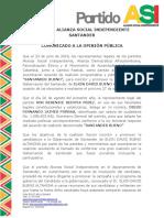 Comunicado Partido ASI Gobernaciòn de Santander.