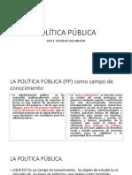 Aguilar Villanueva, Luis. Política Pública.