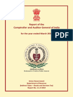 Report No 11 of 2019 Compliance Audit of Union Government Department of Revenue Indirect Taxes Goods and Services Tax