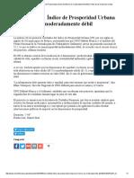 ONU Hábitat_ Índice de Prosperidad Urbana de México Es Moderadamente Débil _ Radio de Las Naciones Unidas