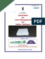 Draft Handbook on Linen Management