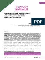 ADAPTAÇÃO CULTURAL DO INSTRUMENTO ADOLESCENT PEDIATRIC PAIN TOOL PARA CRIANÇAS E ADOLESCENTES BRASILEIROS COM CÂNCER