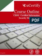 Course Outline CISM 20190820