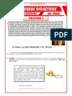 Estructura Interna de Un Texto Para Cuarto de Secundaria
