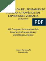 Comprensión Del Pensamiento Indígena a través de sus expresiones verbales (Y. Kuramochi editor)