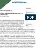 O modus tollens, o holismo de Duhem-Quine e as ciências sociais