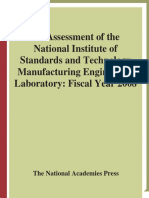 Panel on Manufacturing Engineering, National Research Council - An Assessment of the National Institute of Standards and Technology Manufacturing Engineering Laboratory_ Fiscal Year 2008 (2008)
