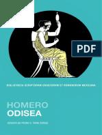 Homero, La Odisea (Bibliotheca Scriptorum Gaecorum Et Romanorum Mexicana, UNAM)