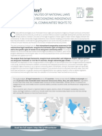 Whose Water? A Comparative Analysis of National Laws and Regulations Recognizing Indigenous Peoples' and Local Communities' Rights to Freshwater (Summary Brief)