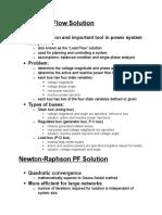 Newton Raphson Power Flow