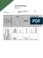 Copia de Formato Matriz Para Identificación de Peligros, Valoración de Riesgos y Determinación de Controles