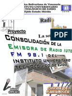 Proyecto Consolidacion Radio Iute Fm 98.1