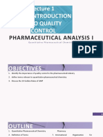 Pharmaceutical Analysis I Lecture_1_Introduction to QC