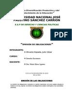 Monografia de La Emision de Obligaciones UNJFSC