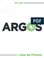 Lista de Precios ARGOS Electrica