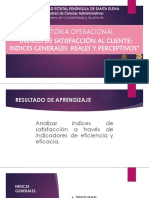 3.3 Indices de Satisfaccion Al Cliente (1) (3)