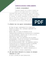 Cuestionario de Ecología y Medio Ambiente
