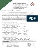 Examen de Diagnostico 2019- 2020 Inglés III