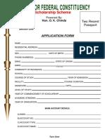 Scholarship Form Non