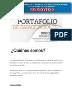Portafolio de Capacitaciones FIE UPONIC