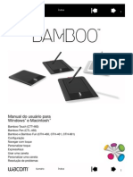 Wacom Bamboo tablet manual