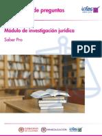 Cuadernillo de Preguntas Investigacion Juridica Saber Pro