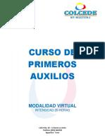 Curso de Primero Auxilios Modalidad Virtual