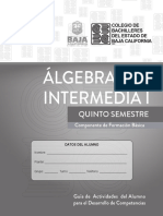 Algebra Intermedia i 2019-2