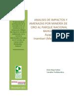 Análisis de Impactos y Amenazas Por Minería de Oro Al PNBS (1)