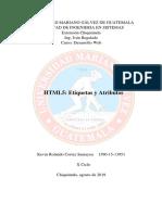 Desarrollo Web - HTML5 Etiquetas y Atributos