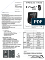 Manual de de power 1000