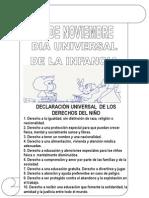 DERECHOS DEL NIÑOS (2º y 3º ciclo de primaria)