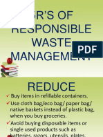 5r's of Responsible Waste Management