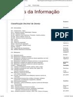 Fontes Da Informação_ Classificação Decimal de Dewey