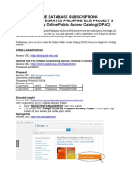 Online Database Subscriptions & Library Opac