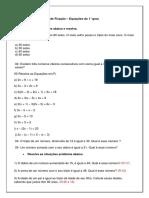 Lista de Equac3a7c3a3o