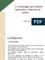Tecnicas y Estrategias Para Mejorar La Redacción de Textos