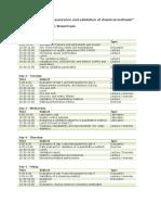 Programme Validation RIKILT 4.5 Dagen