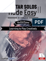 Guitar Solos Made Easy Learning to Play Creatively Module 1 Tab Book Online