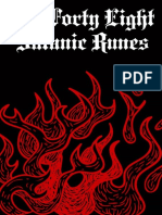 The Forty-Eight Satanic Runes a Magical Manual of the Theban Alphabet Nodrm