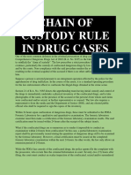 Chain of Custody Rule in Drug Cases