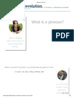 What is a Pronoun