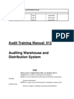 Audit -12 Auditing Warehouse and Distribution System