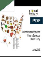 Global Strategy USA Food+Beverage Industry Presentation JUNE 2013